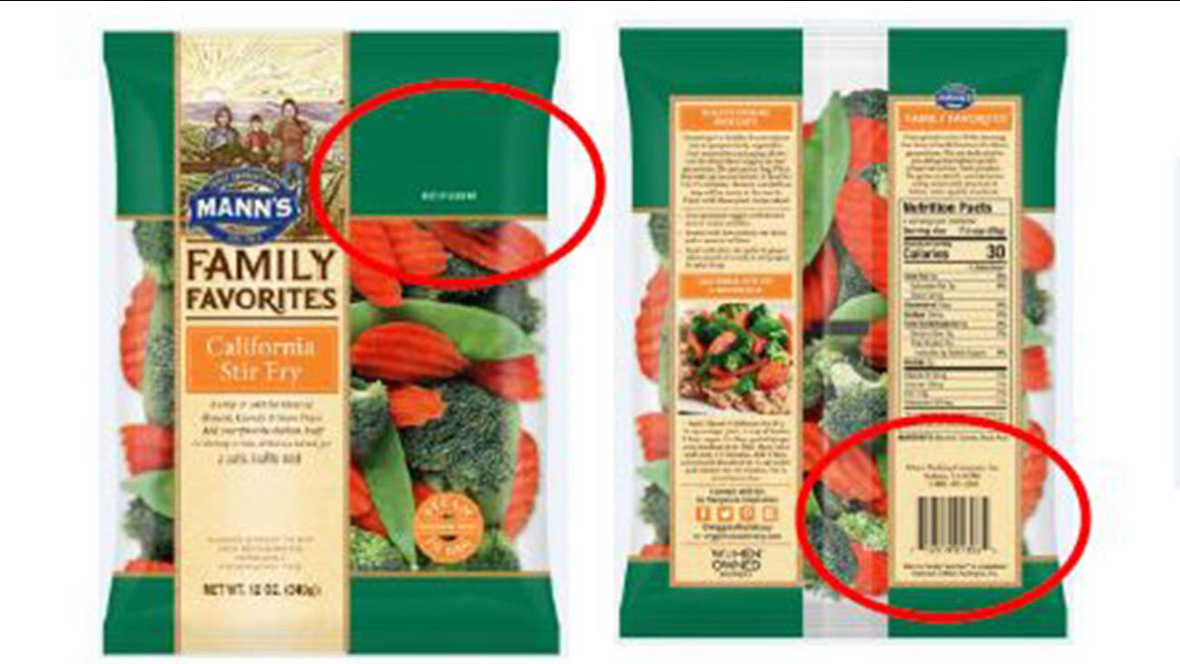 vegetable recall