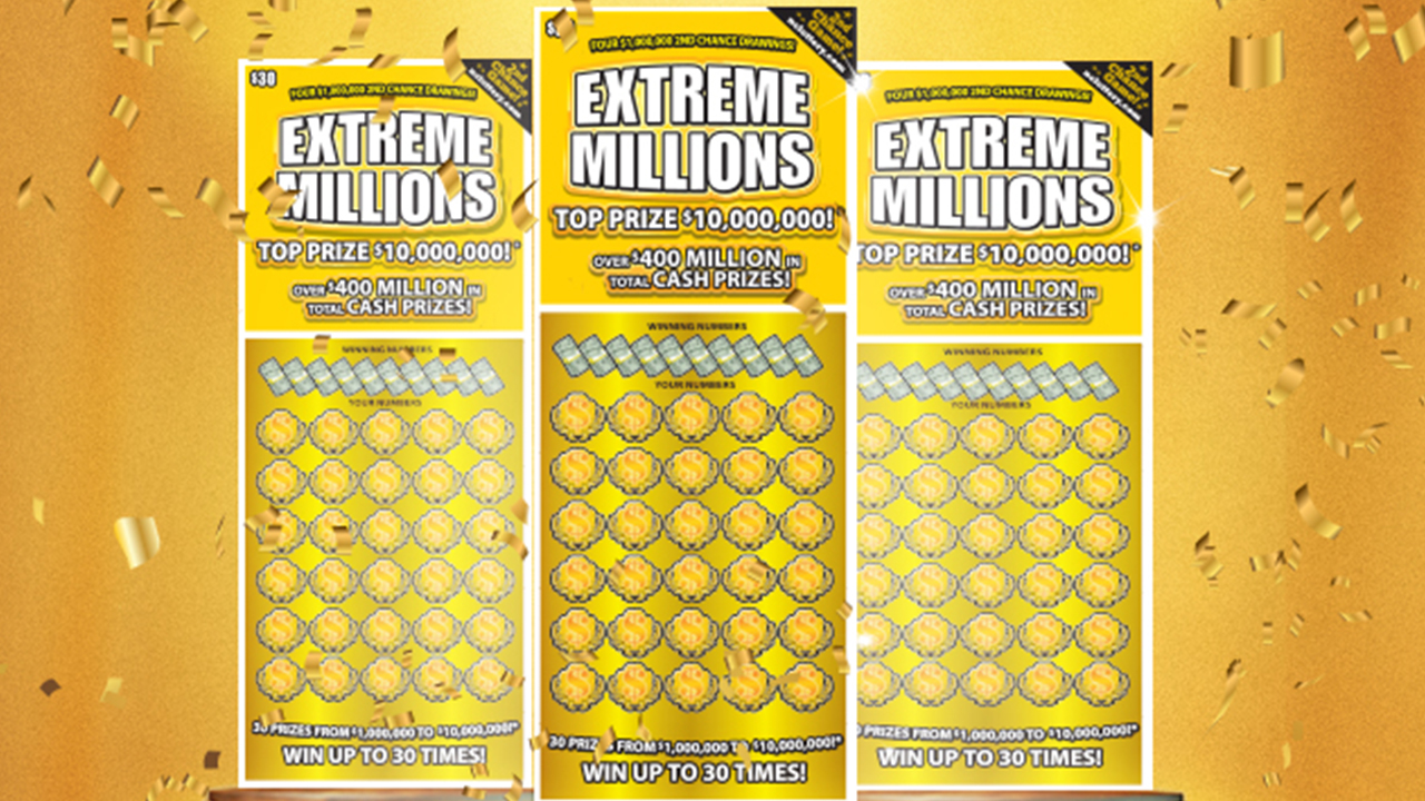Extreme Millions scratch-off game