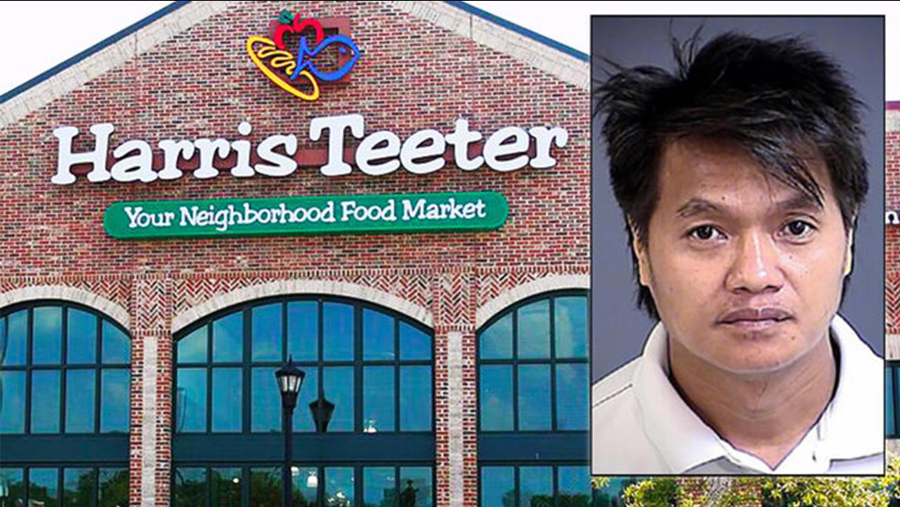 South Carolina man accused of spraying liquid fecal matter onto produce at Harris Teeter