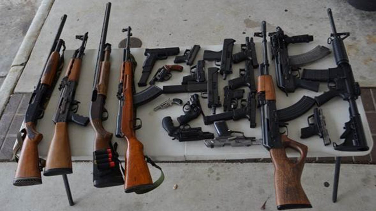 Officers believe these weapons are linked to gang violence