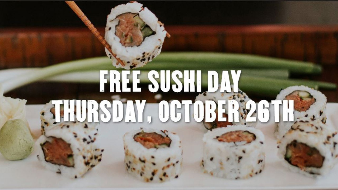 P.F. Chang's is offering a free sushi roll to customers who dine-in at participating locations on Thursday, October 26.