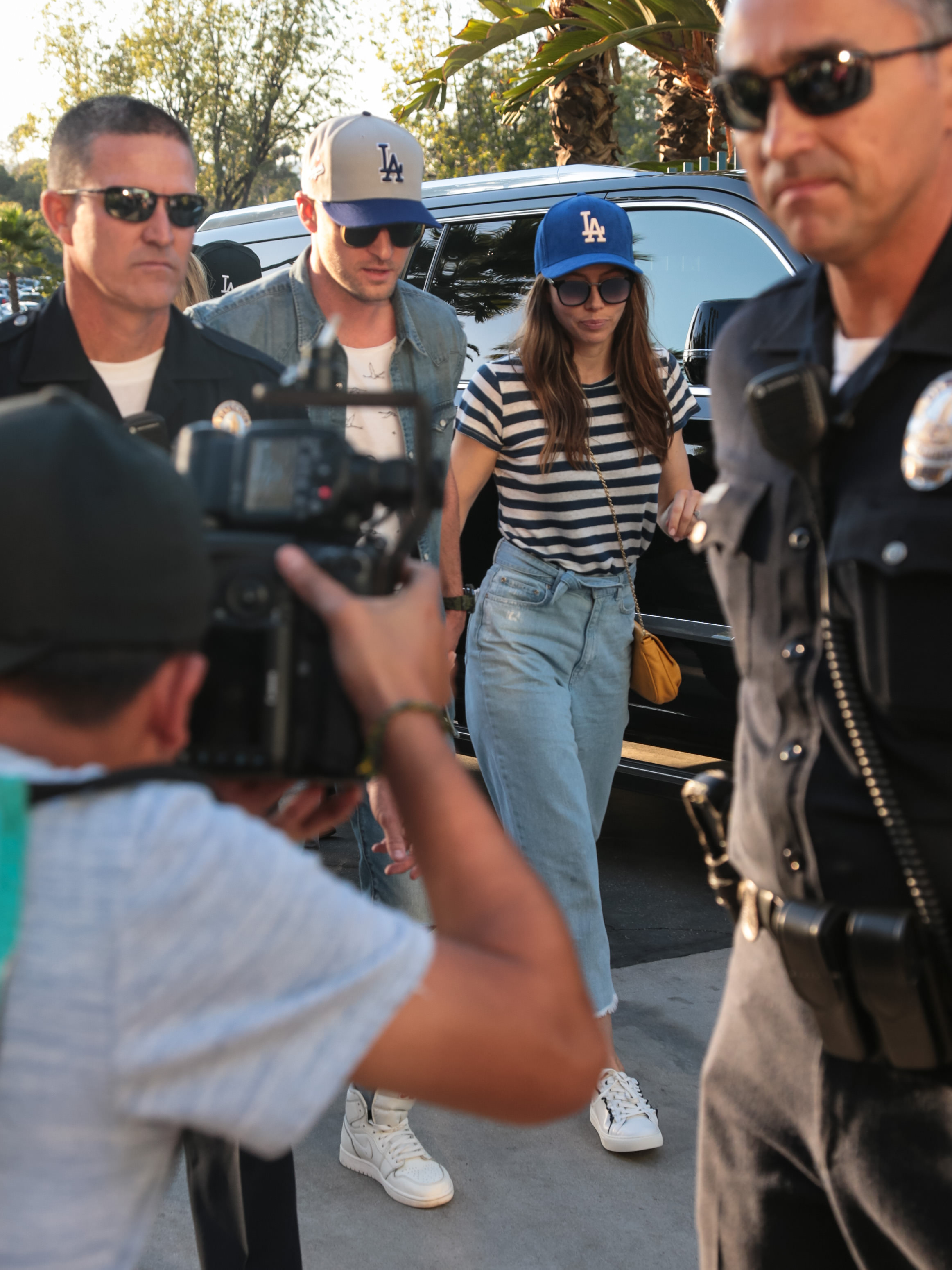 "<div class=""meta image-caption""><div class=""origin-logo origin-image none""><span>none</span></div><span class=""caption-text"">Justin Timberlake and Jessica Biel are seen arriving at game two of the World Series. (Getty Images)</span></div>"