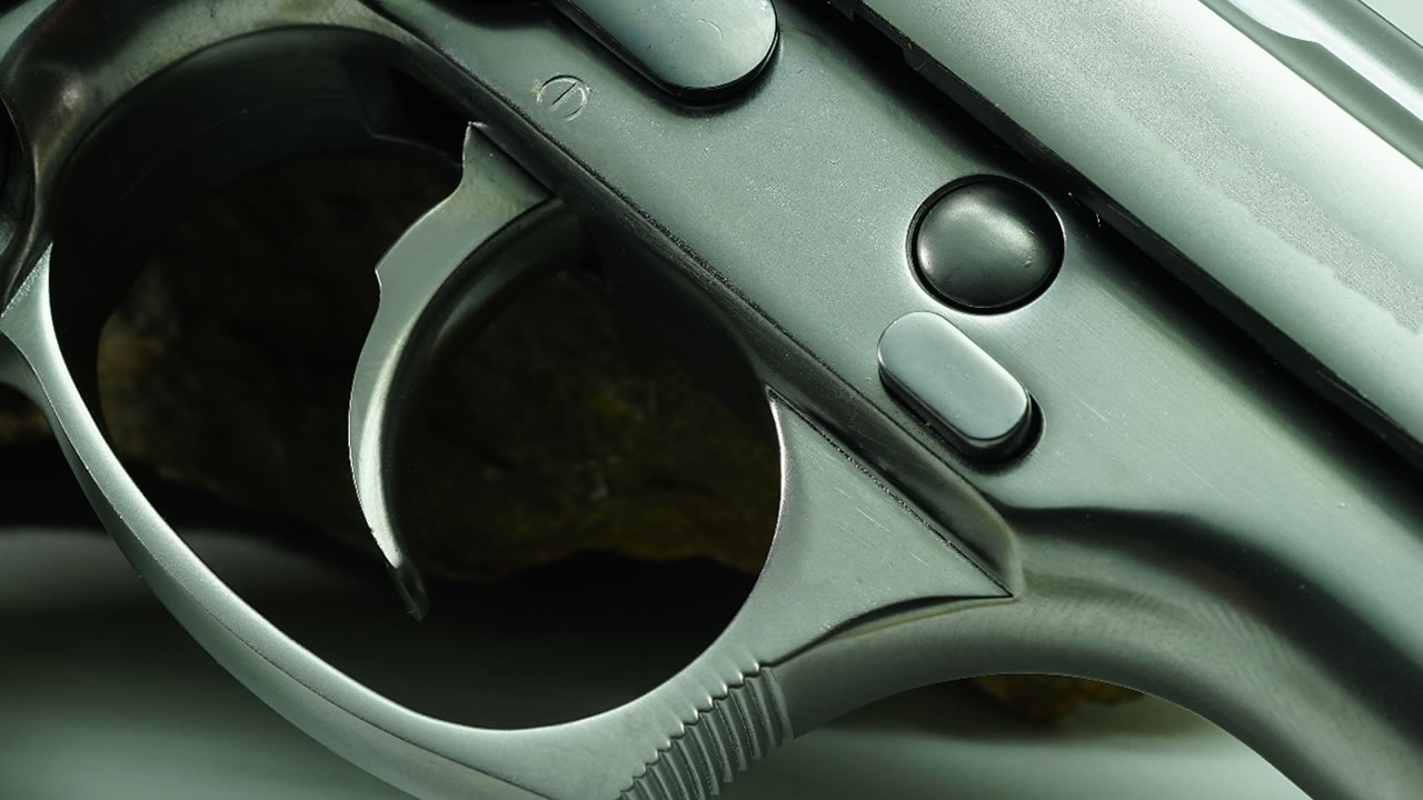 A photo of a gun is seen in this undated image.