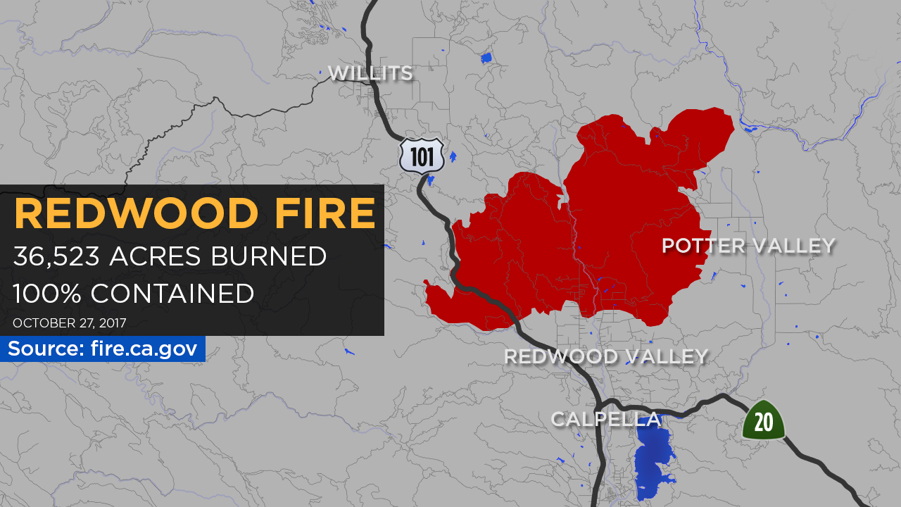 Maps A Look At Each Fire Burning In The North Bay Abc7news Com