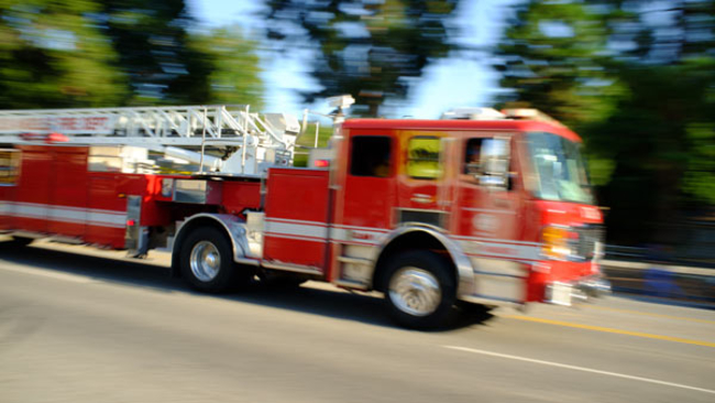 Airport Fire Trucks In Action
