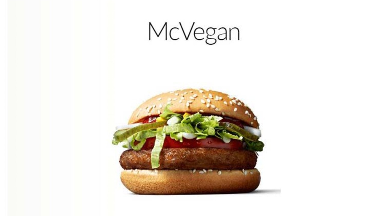 McDonald's is now selling a vegan hamburger called the McVegan.