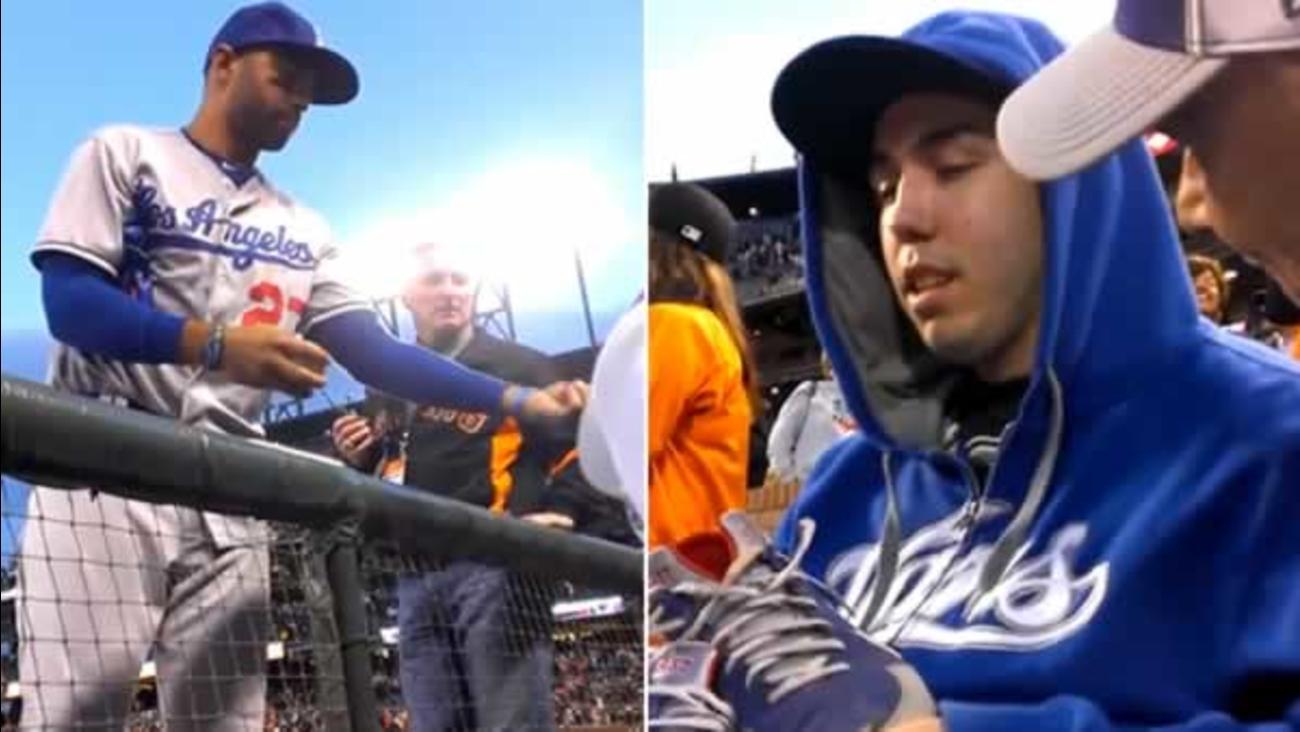 c7e81305f22 VIRAL VIDEO OF THE DAY  Dodgers star Matt Kemp gives fan battling ...