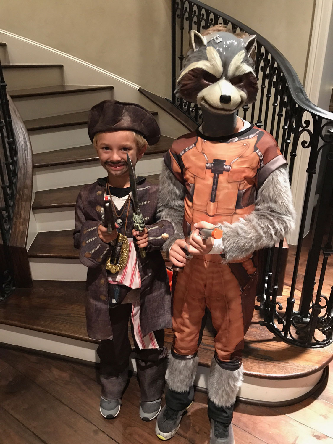 "<div class=""meta image-caption""><div class=""origin-logo origin-image none""><span>none</span></div><span class=""caption-text"">Anchor Ilona Carson's sons Pierce (left) and Reid went trick-or-treating dressed as Jack Sparrow and Rocket Raccoon for Halloween.</span></div>"