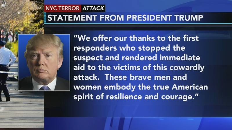 True News Usa >> White House Issues Statement On Nyc Terror Attack