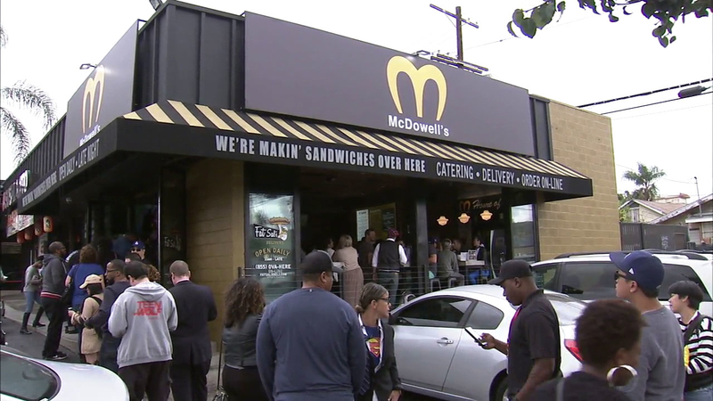 Hollywood Restaurant Transforms Into Mcdowell S From Coming To