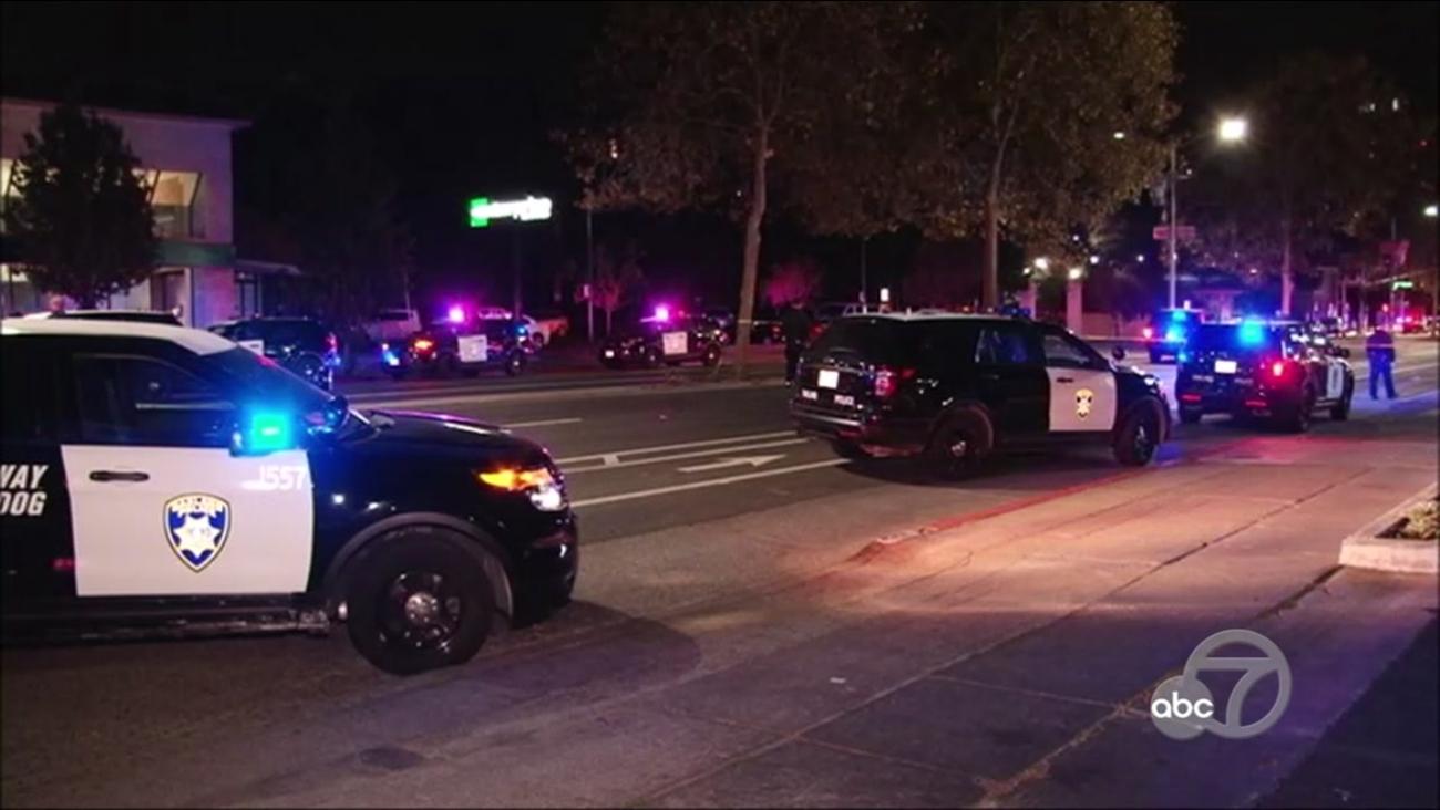 Police investigate shooting in Oakland, California, Wednesday, November 1, 2017.