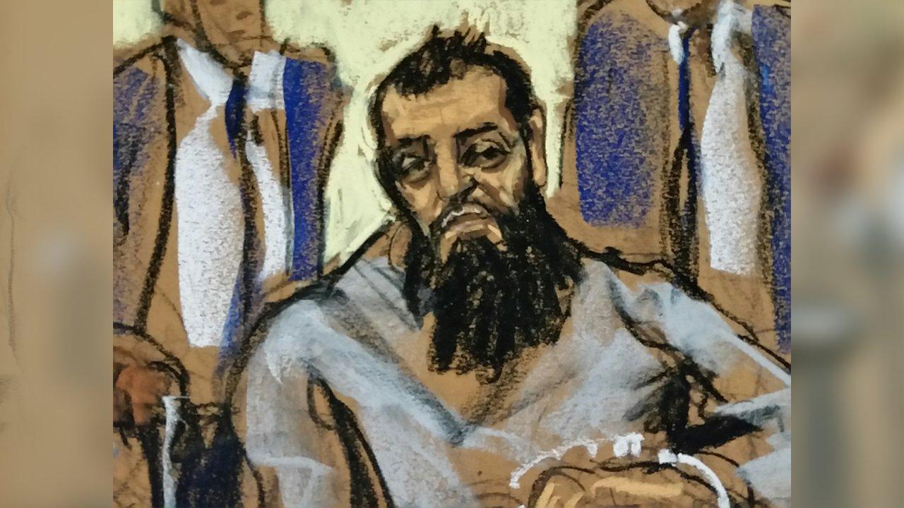 <div class='meta'><div class='origin-logo' data-origin='none'></div><span class='caption-text' data-credit='Jane Rosenberg'>New York City terror suspect Sayfullo Saipov appeared in court on Wednesday, November 1, 2017.</span></div>
