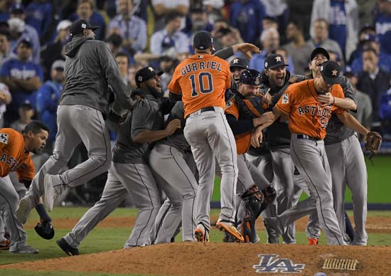 "<div class=""meta image-caption""><div class=""origin-logo origin-image ap""><span>AP</span></div><span class=""caption-text"">The Houston Astros celebrate after their win against the Los Angeles Dodgers in Game 7. (AP Photo/Mark J. Terrill) (AP)</span></div>"