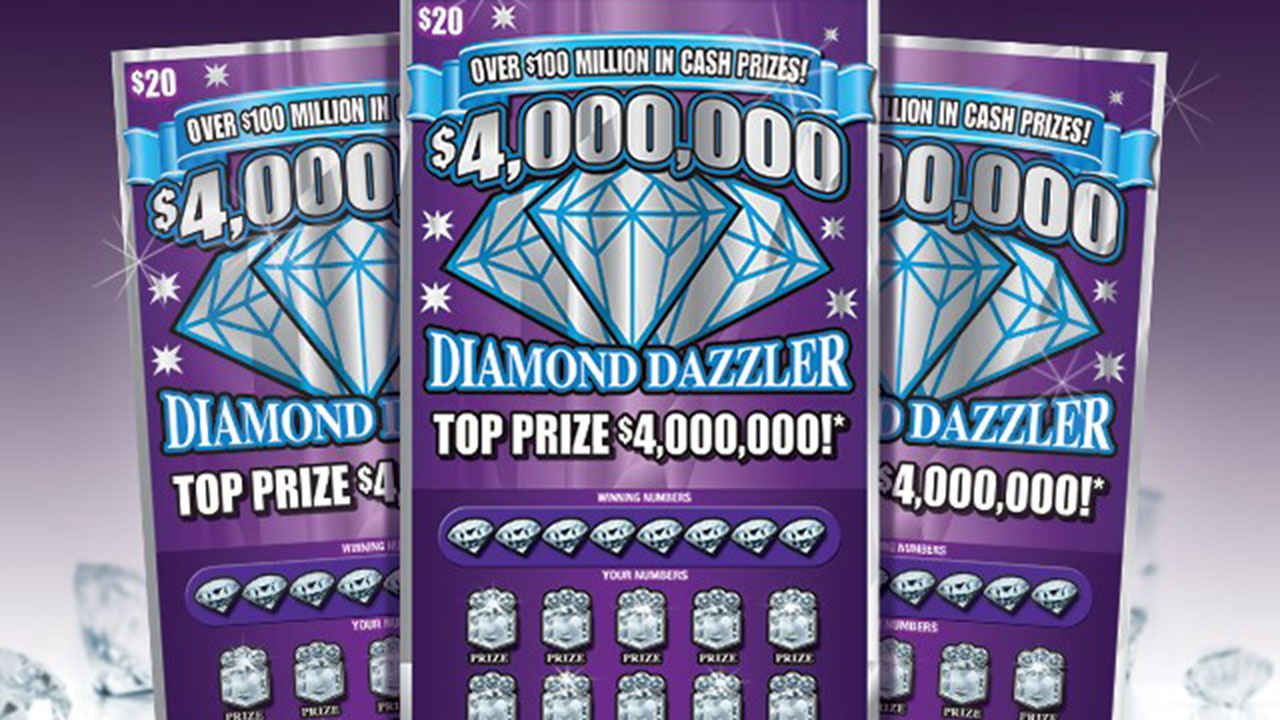 The $20 Diamond Dazzler scratch-off game launched in September with three top prizes of $4 million and six prizes of $1 million