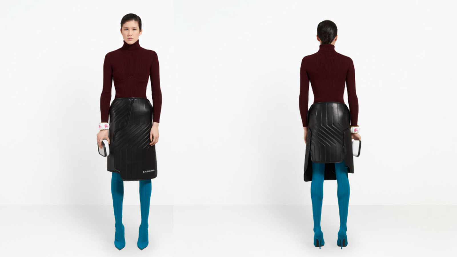 High End Designer Balenciaga Mocked For 2 400 Skirt That Resembles A Car Mat Abc7 Los Angeles
