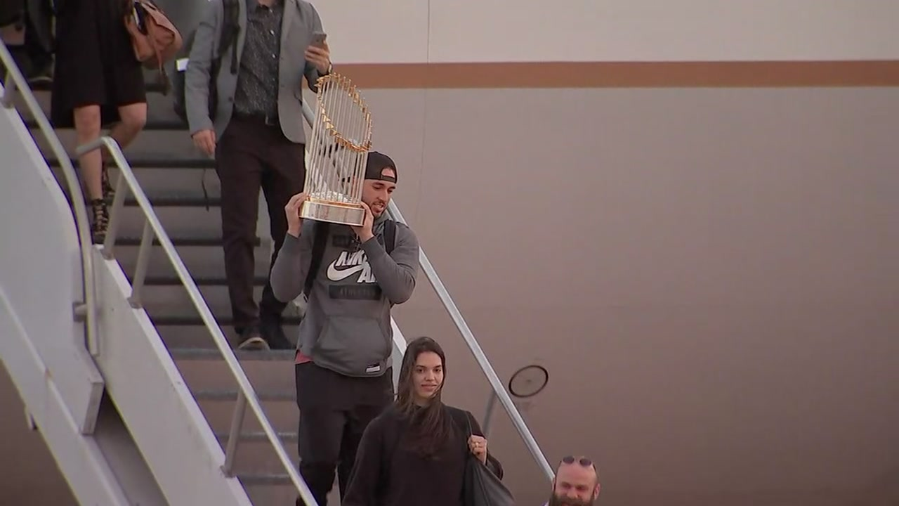 Champions Astros Arrive In Houston After World Series Win
