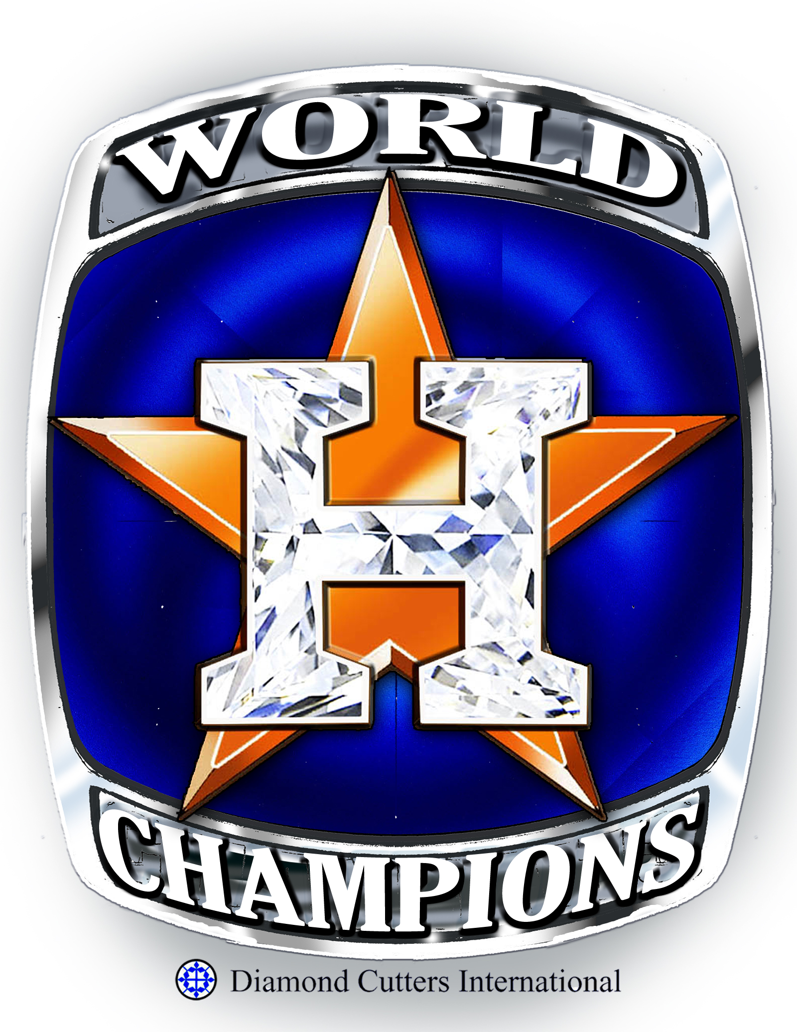 <div class='meta'><div class='origin-logo' data-origin='none'></div><span class='caption-text' data-credit='Diamond Cutters International'>The Astros' baseball cap has a blue background, an orange star and a popping H. Cuellar would take an 8-karat cabochon sapphire and use a laser to cut a grid into that sapphire.</span></div>