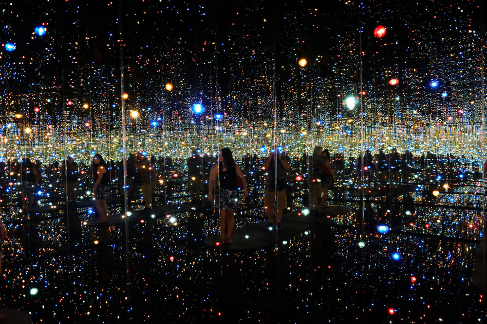 "<div class=""meta image-caption""><div class=""origin-logo origin-image ap""><span>AP</span></div><span class=""caption-text"">Yayoi Kusama's ""Infinity Mirrored Room - The Souls of Millions of Light Years Away"" is on display at The Broad in downtown Los Angeles (AP Photo/Richard Vogel)</span></div>"