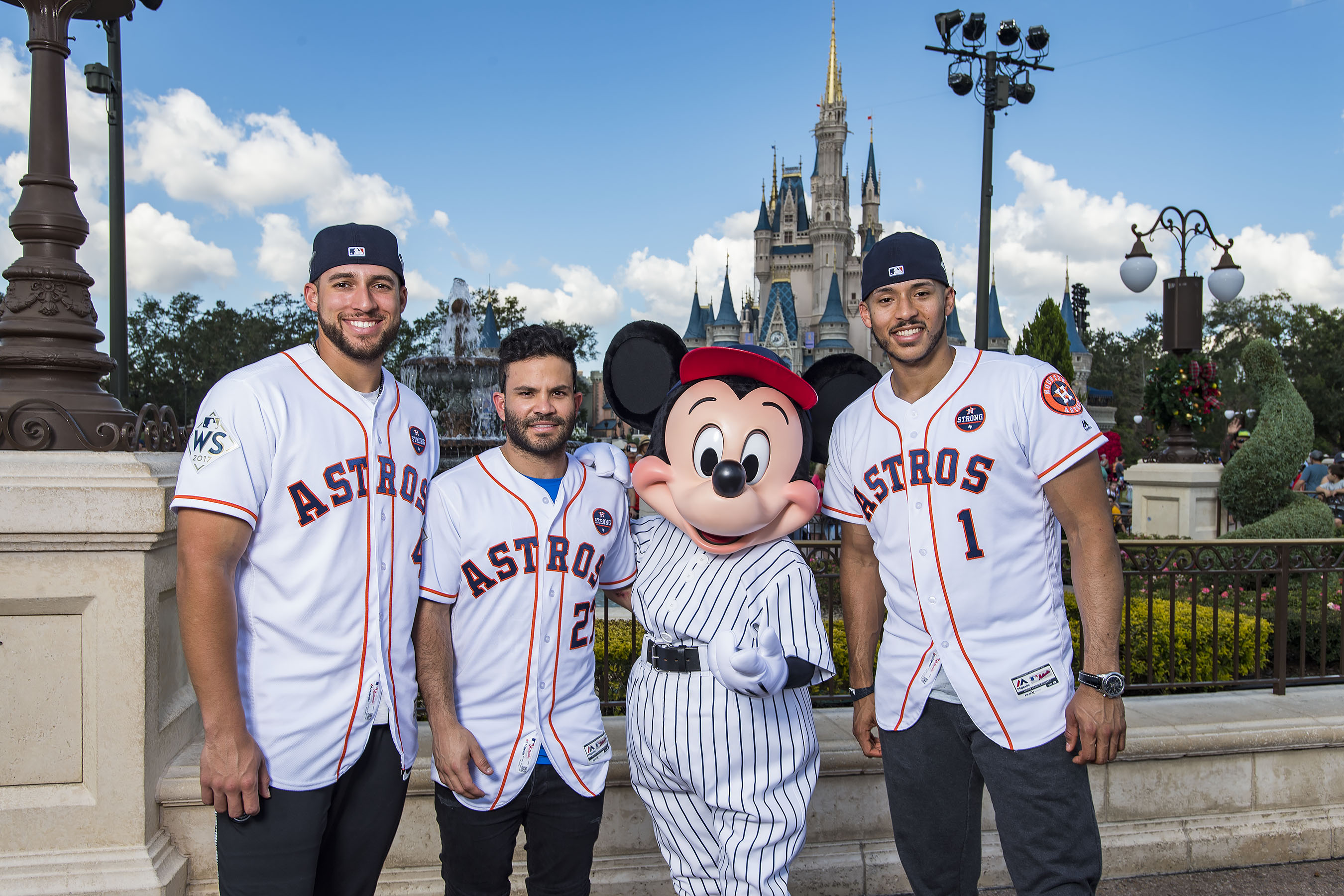 <div class='meta'><div class='origin-logo' data-origin='KTRK'></div><span class='caption-text' data-credit='Matt Stroshane'>Houston Astros star players (l-r) World Series MVP George Springer, American League batting champion Jose Altuve and All-Star Carlos Correa team up with Mickey Mouse.</span></div>