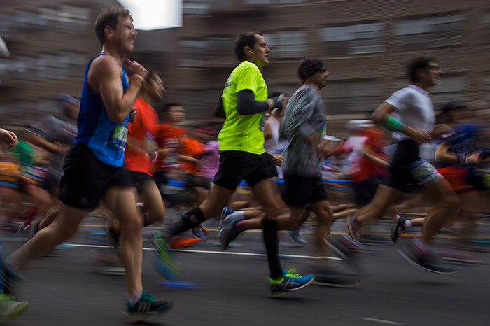 <div class='meta'><div class='origin-logo' data-origin='AP'></div><span class='caption-text' data-credit=''>Runners move along 4th Avenue in the Brooklyn borough of New York during the New York City Marathon on Sunday, Nov. 5, 2017. (AP Photo/Andres Kudacki)</span></div>