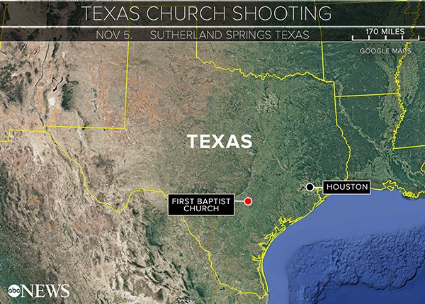 Sutherland Springs Texas Map President Donald Trump tweets about Texas church shooting: 'May