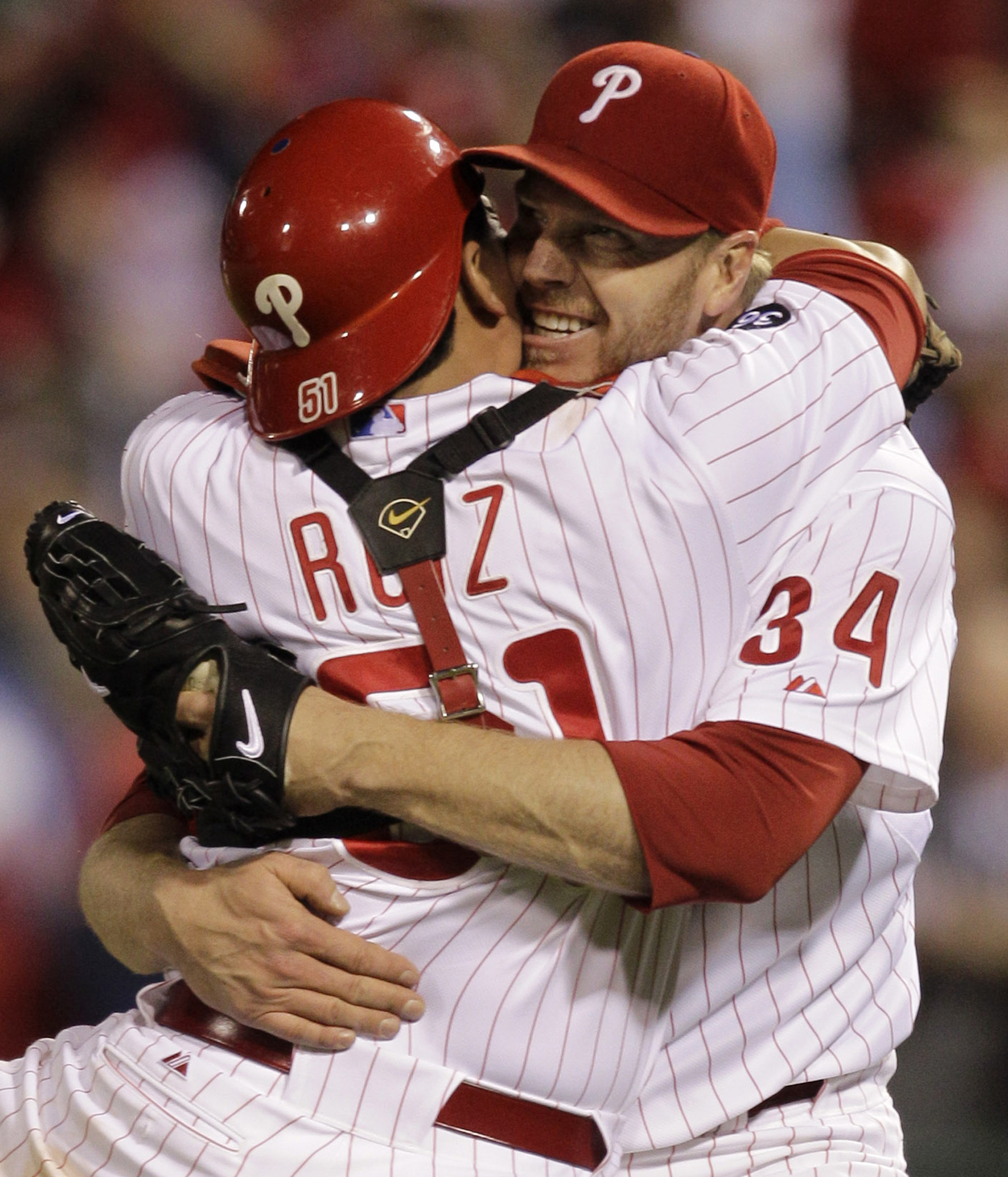 "<div class=""meta image-caption""><div class=""origin-logo origin-image ap""><span>AP</span></div><span class=""caption-text"">Roy Halladay and Carlos Ruiz celebrate after Halladay's playoff no-hitter against the Reds in 2010.</span></div>"