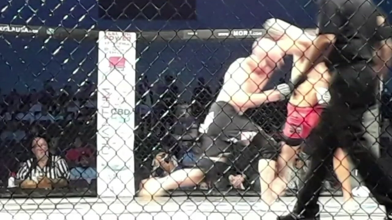 LFA fighter Clovis Hancock died in the cage, but lived to
