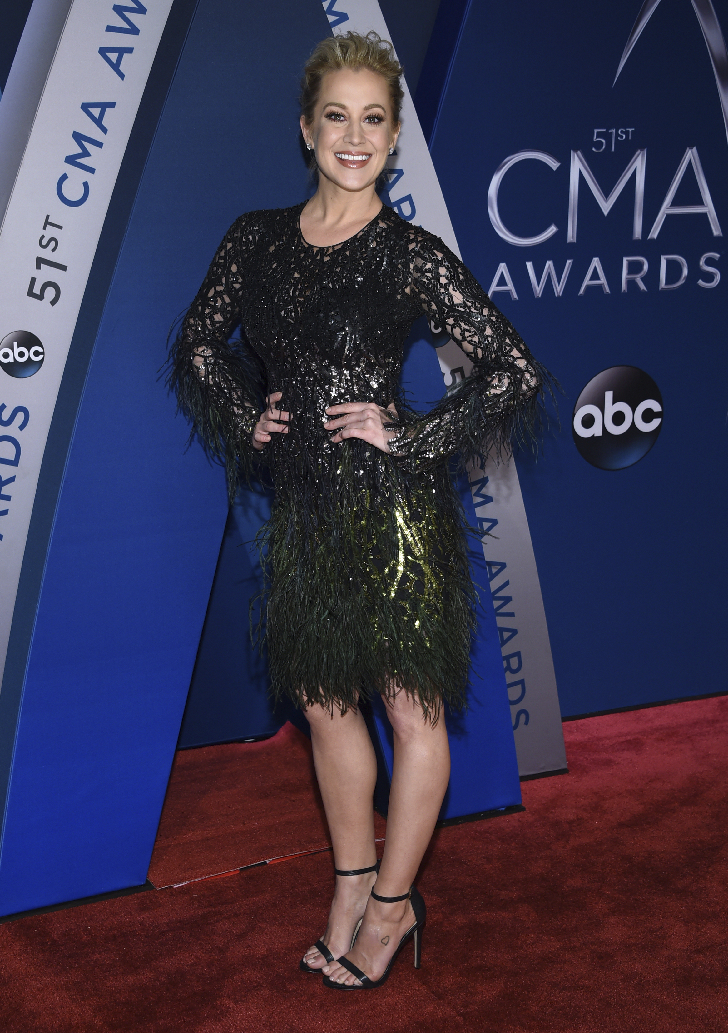 "<div class=""meta image-caption""><div class=""origin-logo origin-image none""><span>none</span></div><span class=""caption-text"">Kellie Pickler arrives at the 51st annual CMA Awards on Wednesday, Nov. 8, 2017, in Nashville, Tenn. (Evan Agostini/Invision/AP)</span></div>"