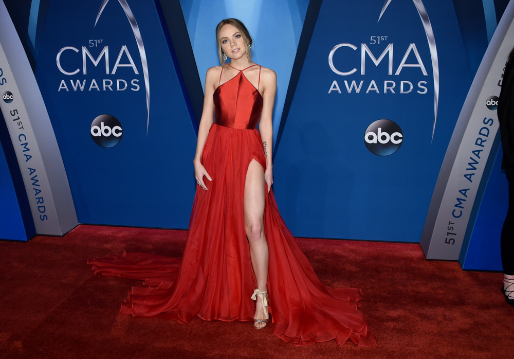 "<div class=""meta image-caption""><div class=""origin-logo origin-image none""><span>none</span></div><span class=""caption-text"">Danielle Bradbery arrives at the 51st annual CMA Awards on Wednesday, Nov. 8, 2017, in Nashville, Tenn. (Evan Agostini/Invision/AP)</span></div>"