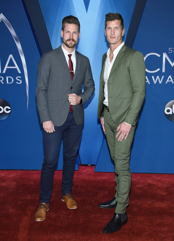 "<div class=""meta image-caption""><div class=""origin-logo origin-image none""><span>none</span></div><span class=""caption-text"">Curtis Rempel, left, and Brad Rempel of High Valley arrive at the 51st annual CMA Awards on Wednesday, Nov. 8, 2017, in Nashville, Tenn. (Evan Agostini/Invision/AP)</span></div>"