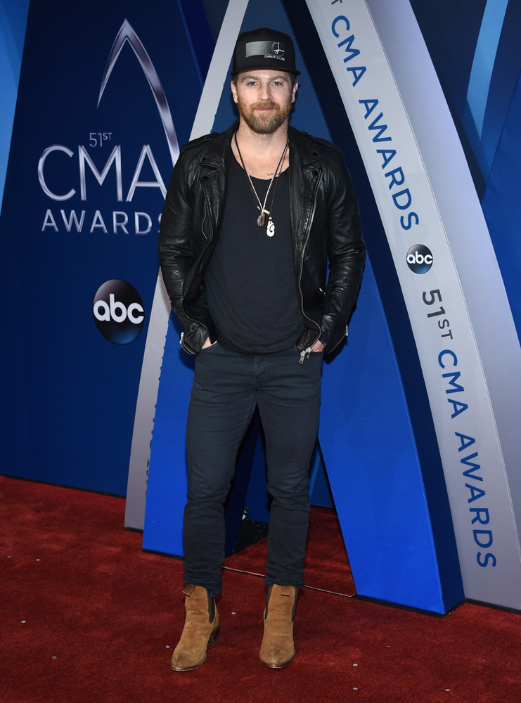"<div class=""meta image-caption""><div class=""origin-logo origin-image none""><span>none</span></div><span class=""caption-text"">Kip Moore arrives at the 51st annual CMA Awards on Wednesday, Nov. 8, 2017, in Nashville, Tenn. (Evan Agostini/Invision/AP)</span></div>"