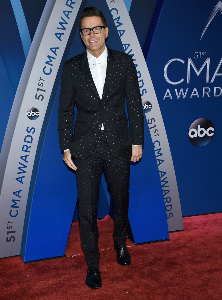 "<div class=""meta image-caption""><div class=""origin-logo origin-image none""><span>none</span></div><span class=""caption-text"">Bobby Bones arrives at the 51st annual CMA Awards on Wednesday, Nov. 8, 2017, in Nashville, Tenn. (Evan Agostini/Invision/AP)</span></div>"