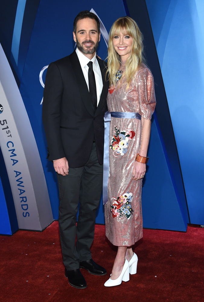 "<div class=""meta image-caption""><div class=""origin-logo origin-image none""><span>none</span></div><span class=""caption-text"">Jimmie Johnson, left, and Chandra Janway arrive at the 51st annual CMA Awards on Wednesday, Nov. 8, 2017, in Nashville, Tenn. (Evan Agostini/Invision/AP)</span></div>"