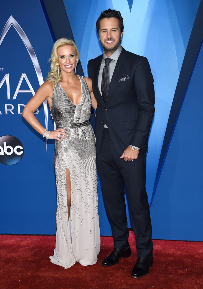 "<div class=""meta image-caption""><div class=""origin-logo origin-image none""><span>none</span></div><span class=""caption-text"">Caroline Boyer, left, and Luke Bryan arrive at the 51st annual CMA Awards on Wednesday, Nov. 8, 2017, in Nashville, Tenn. (Evan Agostini/Invision/AP)</span></div>"