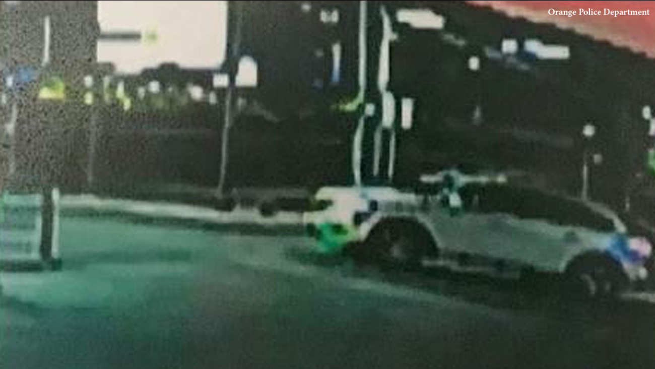 A white SUV possibly involved in a fatal hit-and-run crash in Orange on Friday, Nov. 10, 2017.