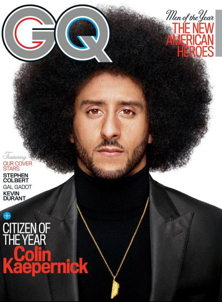 Colin Kaepernick on cover of GQ Magazine.