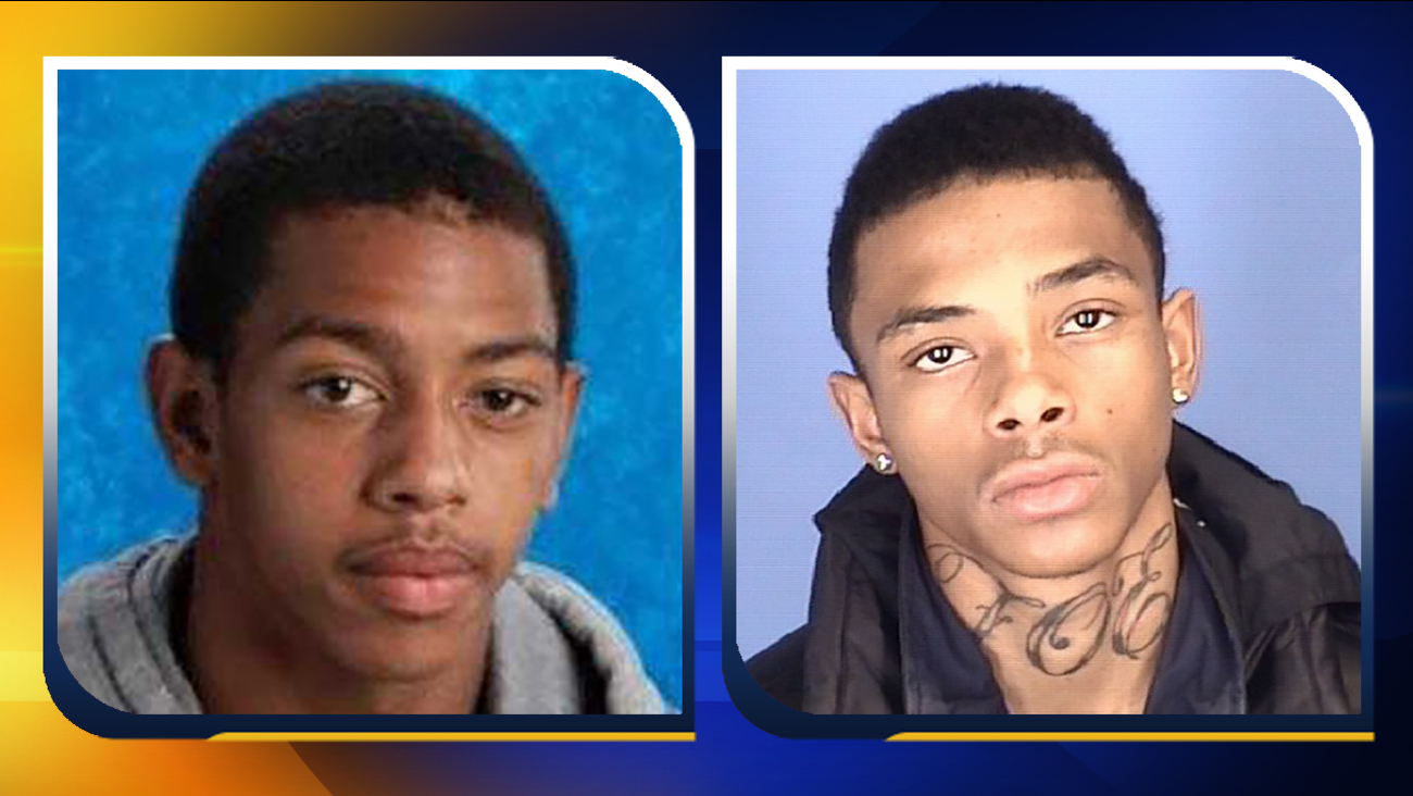 Najee Camell Moore, left, and Daquan Amare Rogers