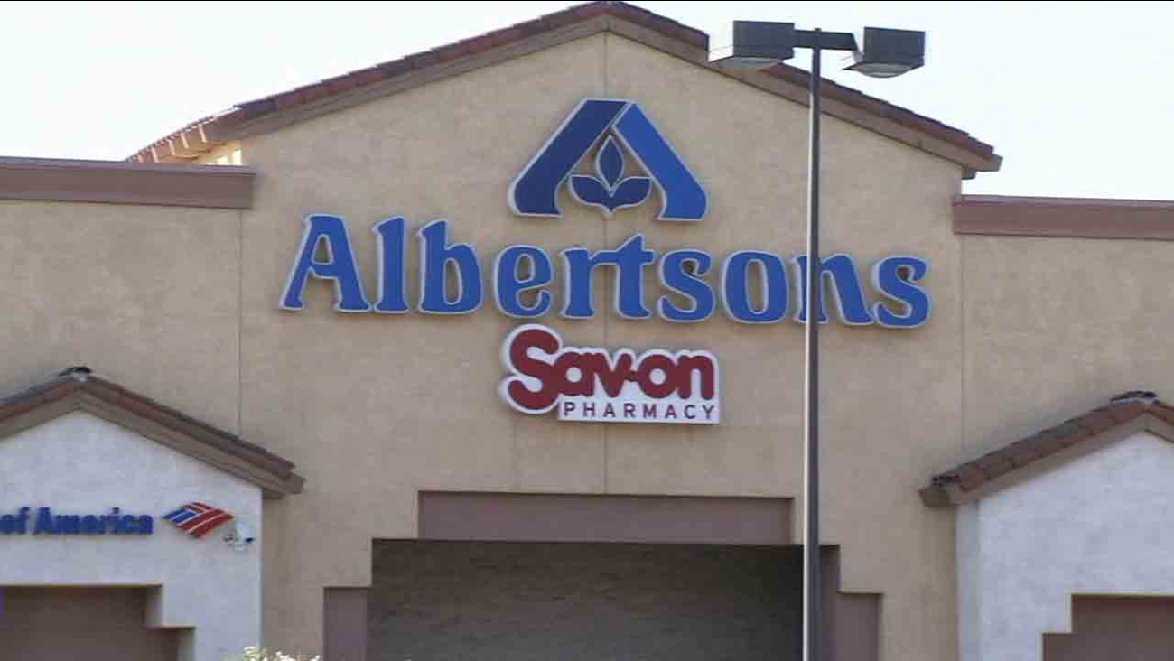 A sign for Albertsons is shown in this undated file photo.