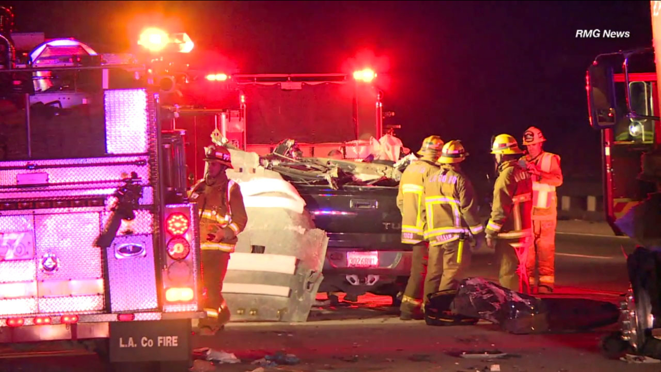 Two people were killed and two critically injured in a traffic collision on the northbound 5 Freeway in the Pyramid Lake area, officials said.