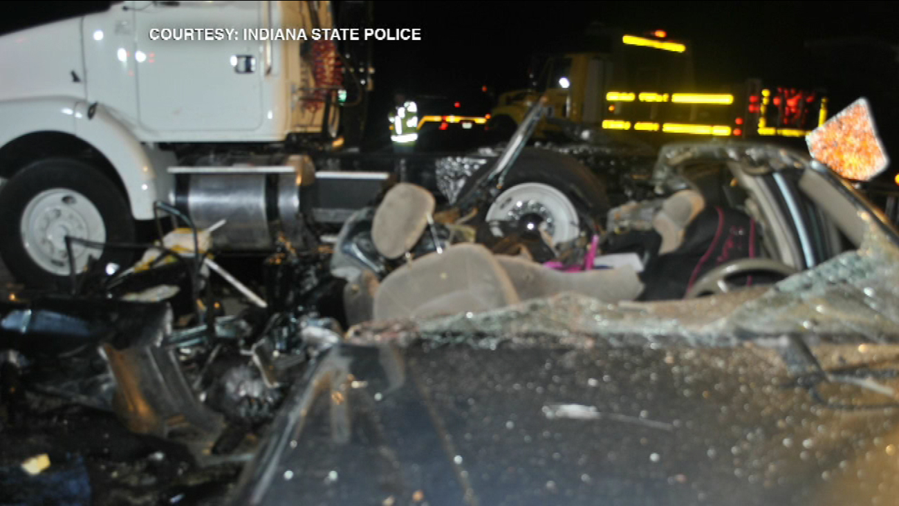 Chicago woman killed when semi runs over car in NW Indiana