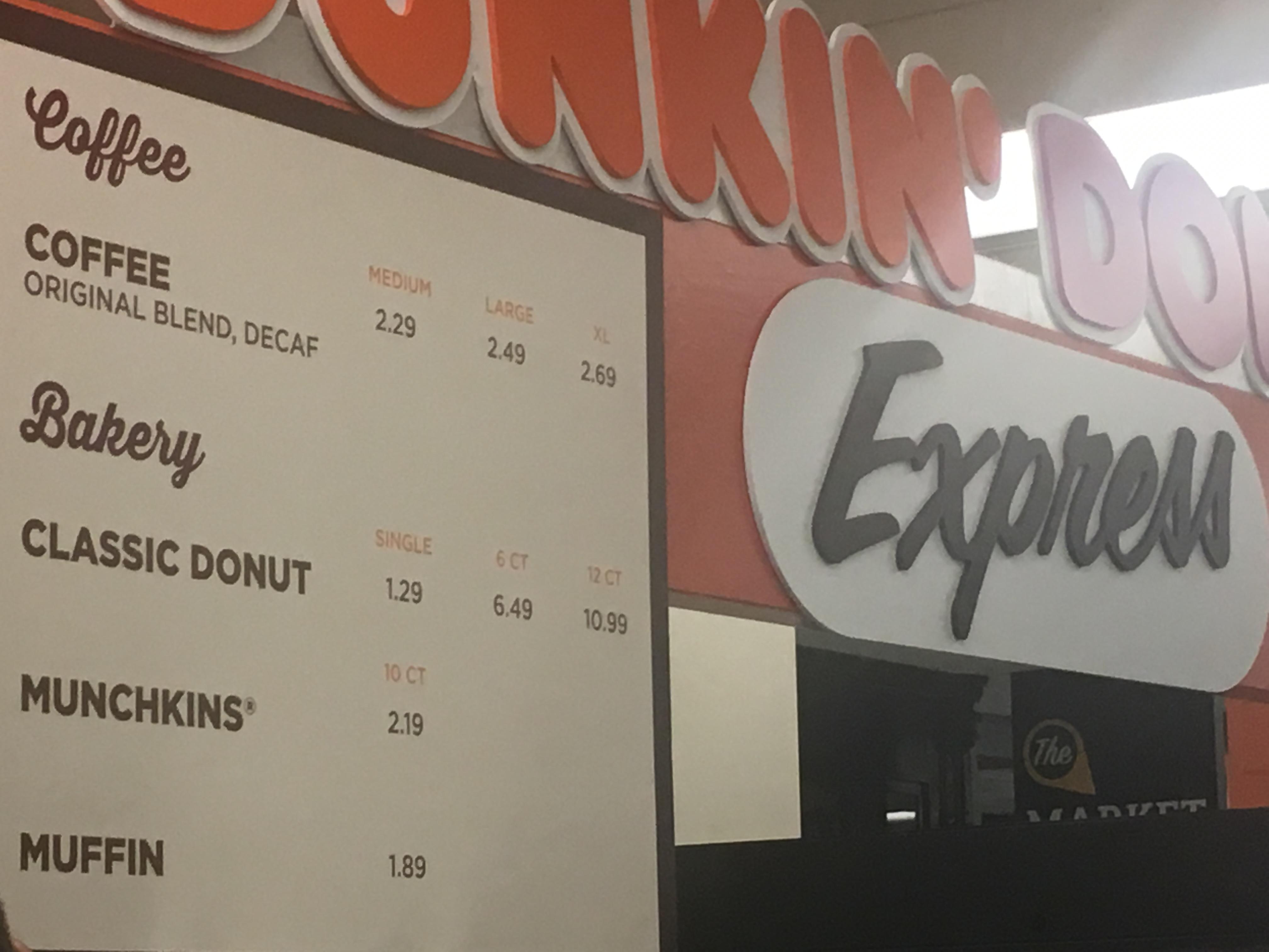 <div class='meta'><div class='origin-logo' data-origin='WLS'></div><span class='caption-text' data-credit=''>Dunkin Donuts Express menu</span></div>