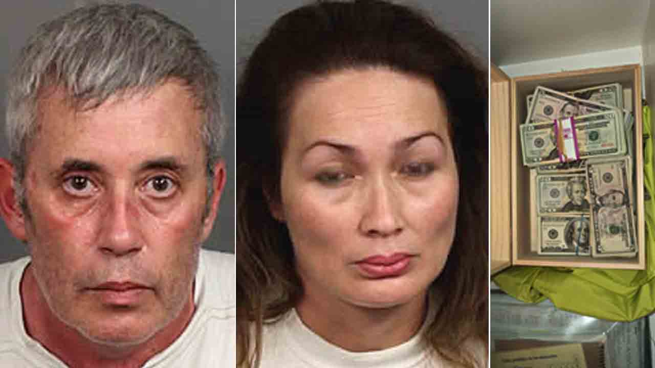 Michael Fundiller, 55, and Rubiela Fundiller, 39, of Palm Desert were arrested on suspicion of cultivation of marijuana and operating a clandestine lab Wednesday, Aug. 13, 2014.