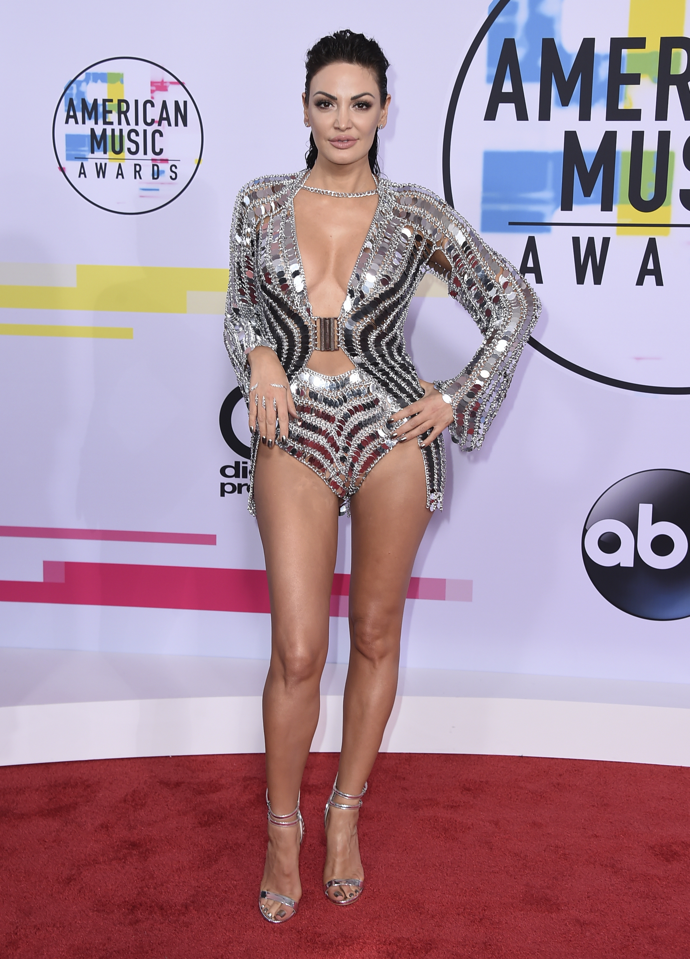 <div class='meta'><div class='origin-logo' data-origin='none'></div><span class='caption-text' data-credit='Jordan Strauss/Invision/AP'>Bleona Qereti arrives at the American Music Awards at the Microsoft Theater on Sunday, Nov. 19, 2017, in Los Angeles.</span></div>