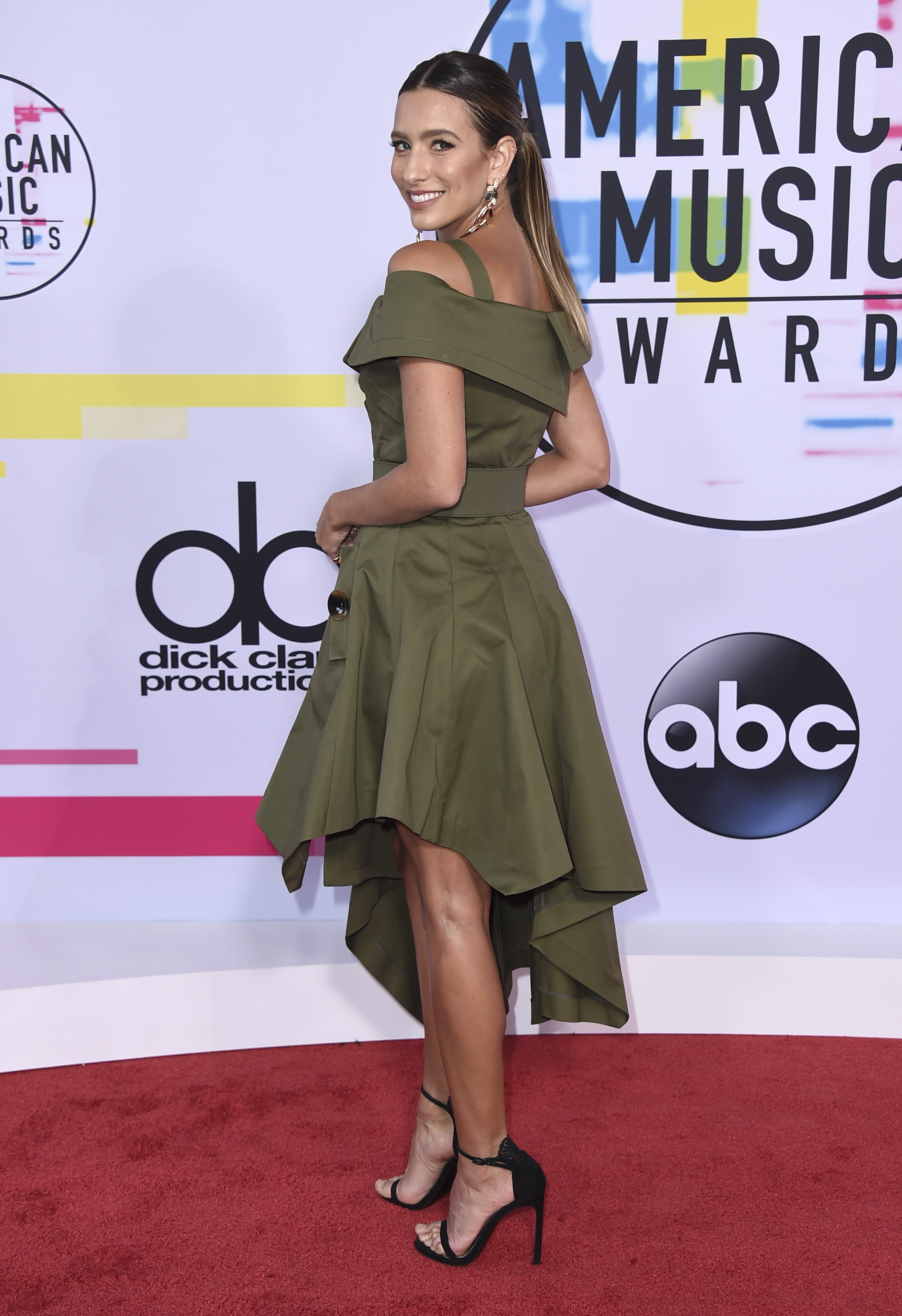 <div class='meta'><div class='origin-logo' data-origin='none'></div><span class='caption-text' data-credit='Jordan Strauss/Invision/AP'>Renee Bargh arrives at the American Music Awards at the Microsoft Theater on Sunday, Nov. 19, 2017, in Los Angeles.</span></div>