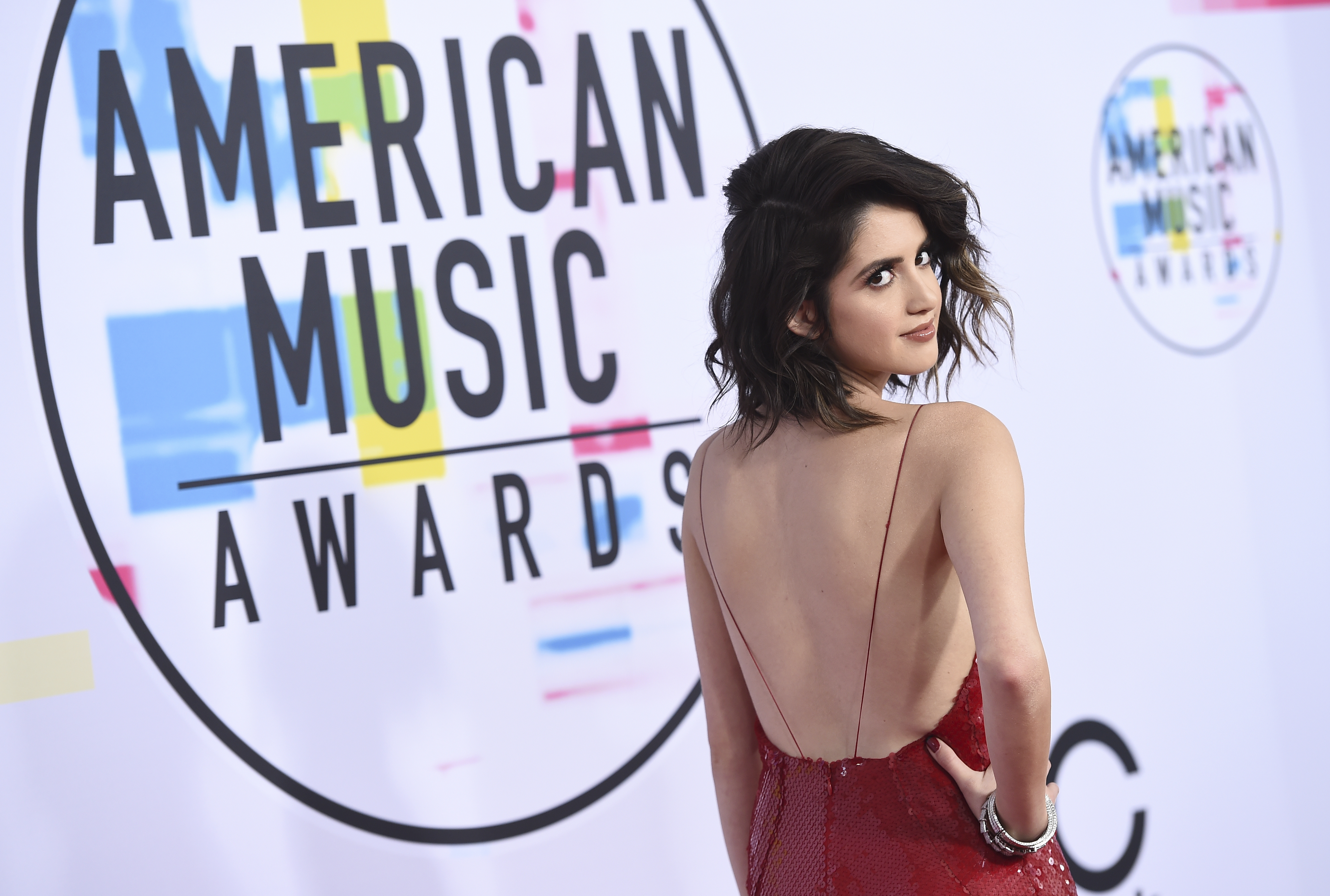 <div class='meta'><div class='origin-logo' data-origin='none'></div><span class='caption-text' data-credit='Jordan Strauss/Invision/AP'>Laura Marano arrives at the American Music Awards at the Microsoft Theater on Sunday, Nov. 19, 2017, in Los Angeles.</span></div>
