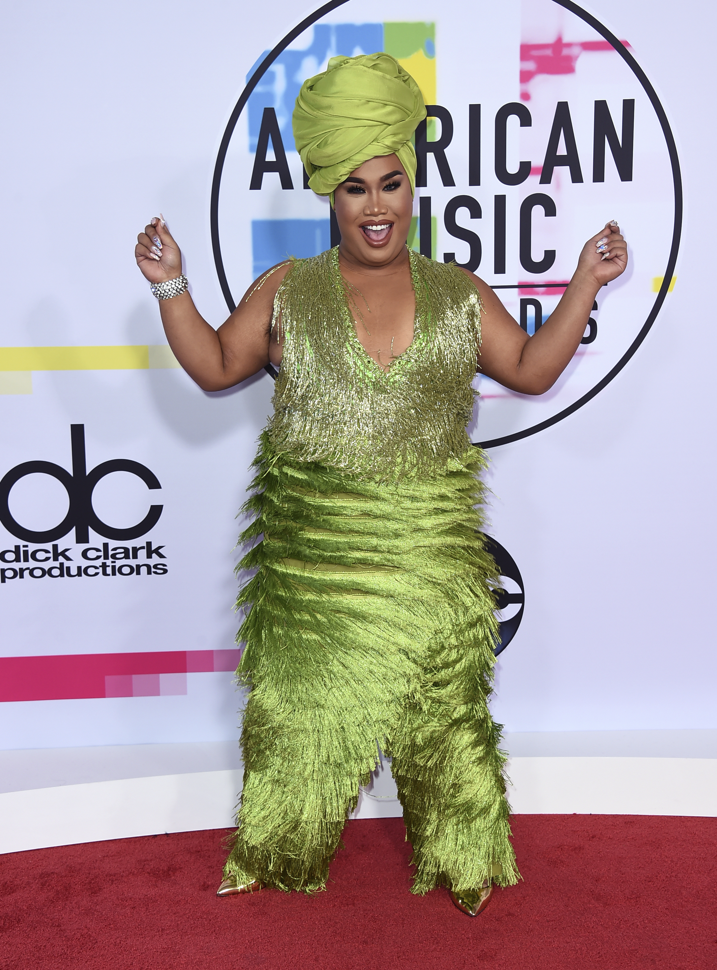 <div class='meta'><div class='origin-logo' data-origin='none'></div><span class='caption-text' data-credit='Jordan Strauss/Invision/AP'>Patrick Starrr arrives at the American Music Awards at the Microsoft Theater on Sunday, Nov. 19, 2017, in Los Angeles.</span></div>