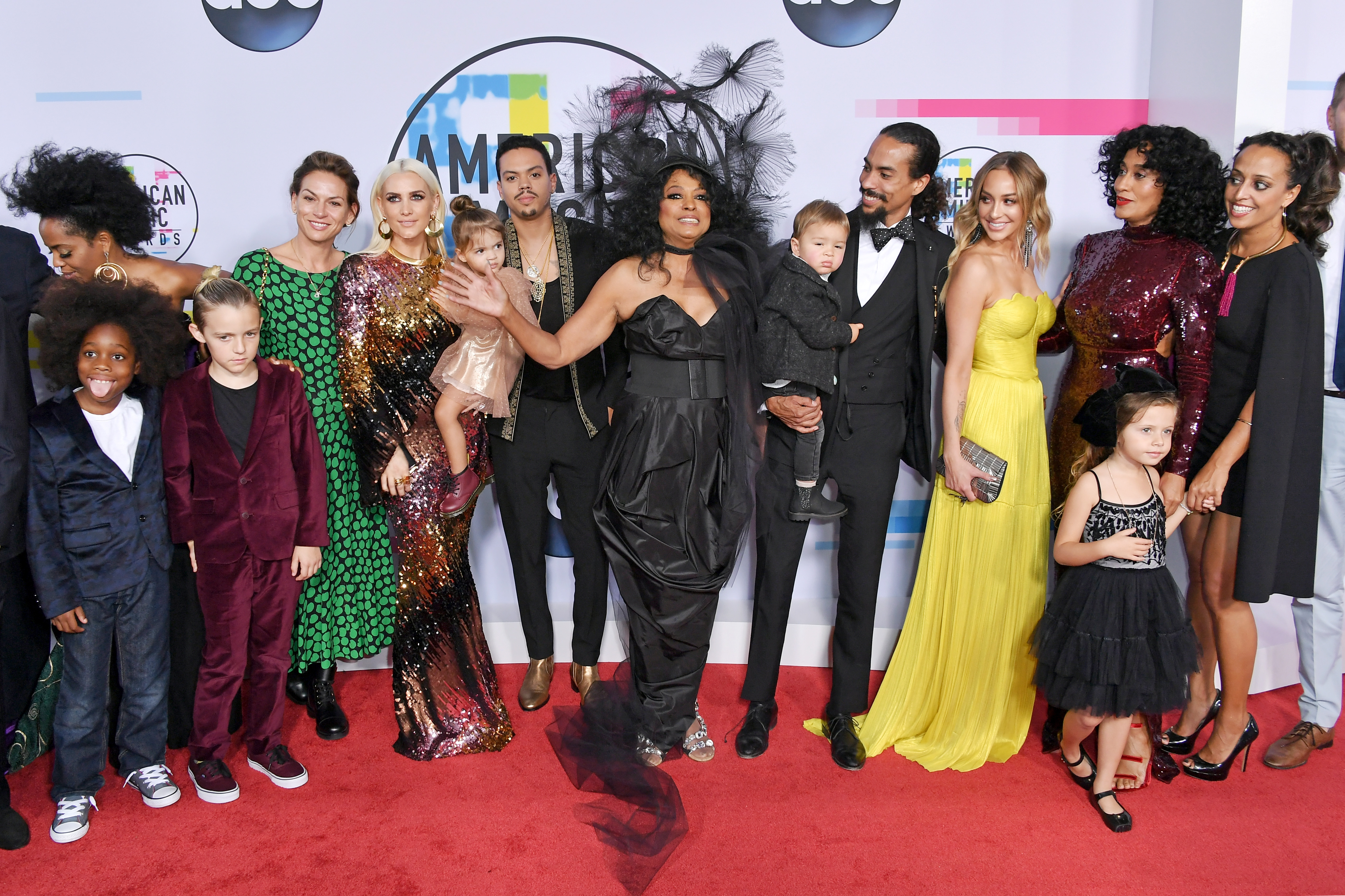 <div class='meta'><div class='origin-logo' data-origin='none'></div><span class='caption-text' data-credit='Neilson Barnard/Getty Images'>Ashlee Simpson, Evan Ross, Diana Ross, and  Tracee Ellis Ross attend the 2017 American Music Awards at Microsoft Theater on November 19, 2017 in Los Angeles, California.</span></div>