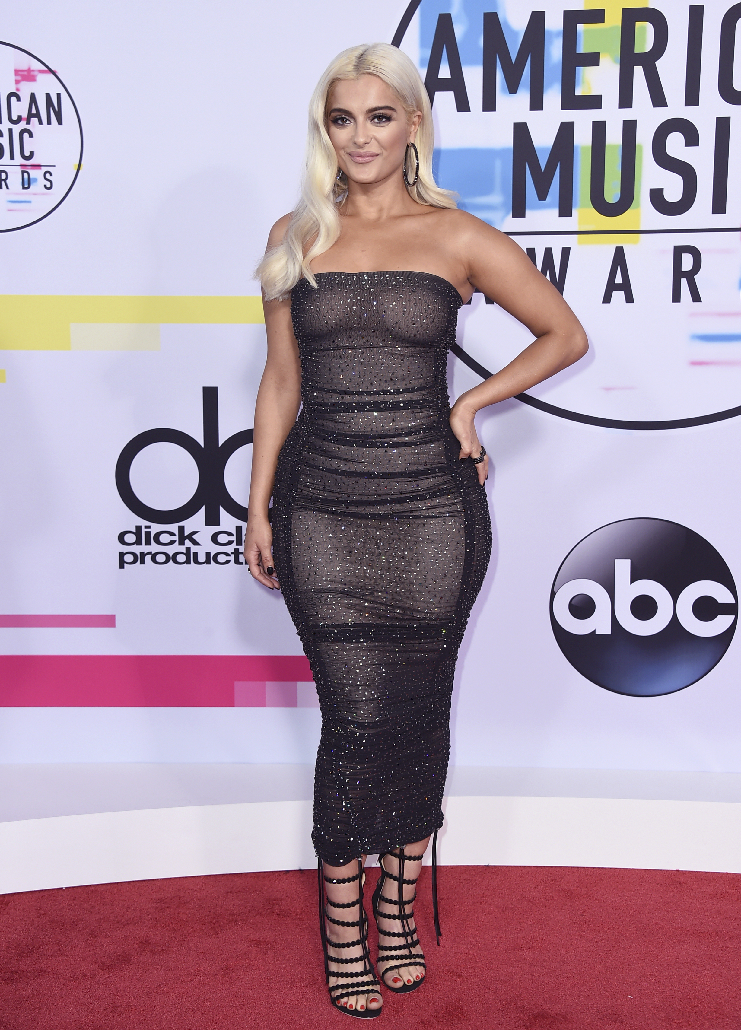 <div class='meta'><div class='origin-logo' data-origin='none'></div><span class='caption-text' data-credit='Jordan Strauss/Invision/AP'>Bebe Rexha arrives at the American Music Awards at the Microsoft Theater on Sunday, Nov. 19, 2017, in Los Angeles.</span></div>