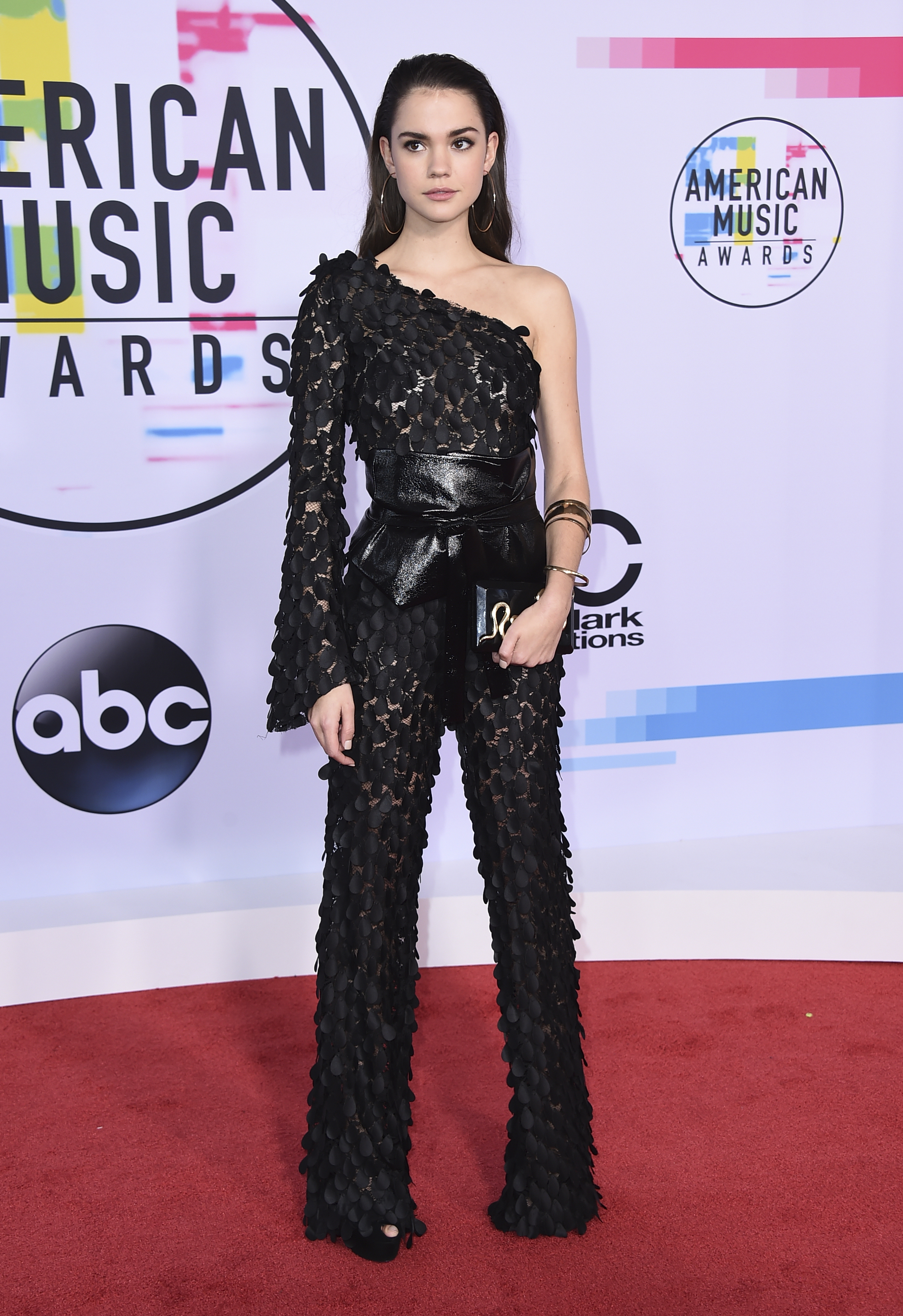 <div class='meta'><div class='origin-logo' data-origin='none'></div><span class='caption-text' data-credit='Jordan Strauss/Invision/AP'>Maia Mitchell arrives at the American Music Awards at the Microsoft Theater on Sunday, Nov. 19, 2017, in Los Angeles.</span></div>