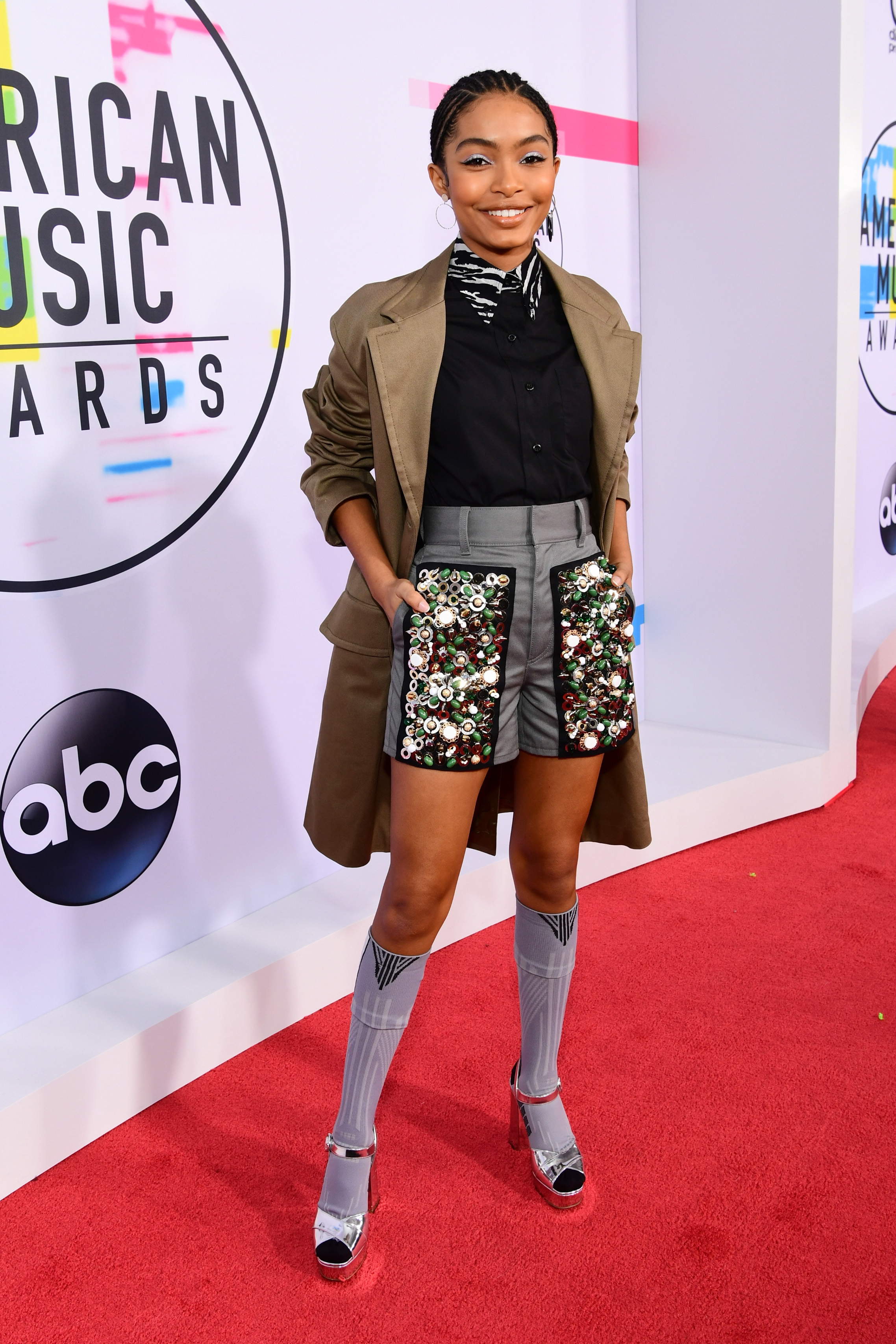 <div class='meta'><div class='origin-logo' data-origin='none'></div><span class='caption-text' data-credit='Emma McIntyre/AMA2017/Getty Images for dcp'>Yara Shahidi attends the 2017 American Music Awards at Microsoft Theater on November 19, 2017 in Los Angeles, California.</span></div>